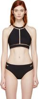Alexander Wang Black Fishline Bikini Top