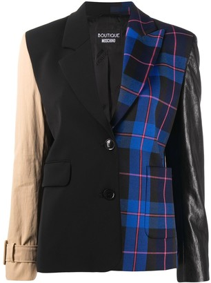 Boutique Moschino Colour-Block Check Blazer