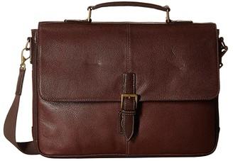 Scully Mason Workbag Brief (Brown) Briefcase Bags
