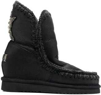 Mou Embellished-Star Shearling Boots