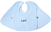 My 1st Years Personalised Baby Bibs, Pack of 3, Blue