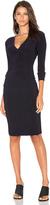 Norma Kamali Shirred Waist Dress