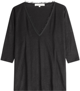Vanessa Bruno Cotton Top with Frayed Trims