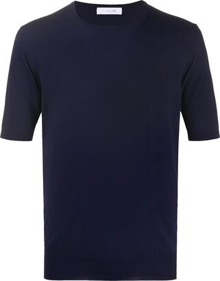 Cruciani Shortsleeved Fine Knit Top