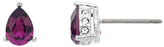 Cachet Pear Amethyst Stud Earrings, Purple