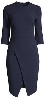 Black Halo Kofi Aysmmetrical Sheath Dress