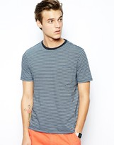 Dockers Alpha T-shirt Lim Fit Stripe One Pocket