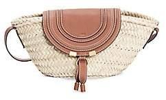 Chloé Women's Small Marcie Leather-Trimmed Raffia Tote