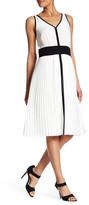 Lands' End Canvas Sleeveless Pleated Skirt Silk Dress