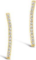 Sterling Forever Pave Bar Earrings