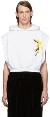 Random Identities White Cropped Banana Hoodie