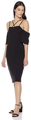 Suite Alice Cross Tie Cold Shoulder Flare Short Sleeve Dress
