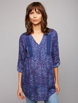 A Pea in the Pod Luxe Essentials Denim Lace Trim Maternity Blouse
