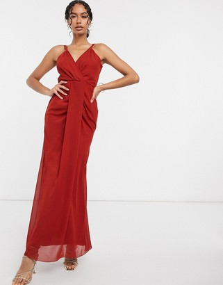 Virgos Lounge cami maxi dress in red