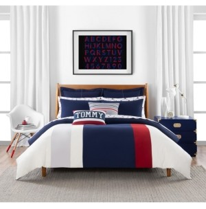 Tommy Hilfiger Clash of 85 Stripe 3 Piece full/Queen Duvet Set Bedding