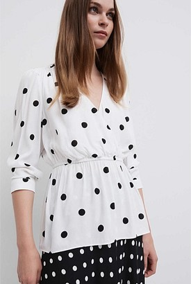 Witchery Spot Blouse