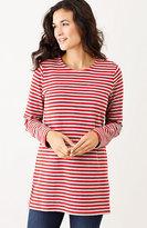 J. Jill Striped Button-Shoulder Tunic