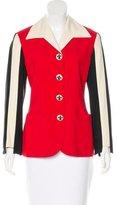 Moschino Striped Button-Up Blazer