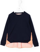 Marni contrast checked panel jumper - kids - Cotton - 4 yrs