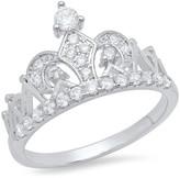 Simulated Diamond Tiara Ring