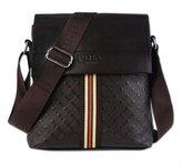 Janelysha 2017 Men's Patent Leather Braid Plaid Bucket Business Casual Shoulder Bag 18 colors