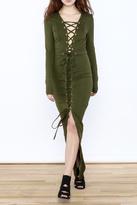 Hera Olive Maxi Dress