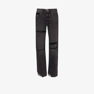 Frame X Imaan straight cut ripped jeans