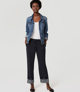 LOFT Petite Diamante Fluid Drawstring Pants