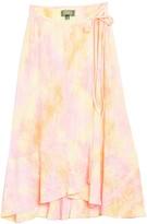 4SI3NNA the Label Lana Tie Dye Wrap Skirt