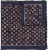 Gucci GG Supreme Monogram scarf - women - Silk/Polyamide/Wool/Metallic Fibre - One Size