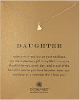 """Dogeared Sterling Daughter Pendant Necklace, 18"""""""