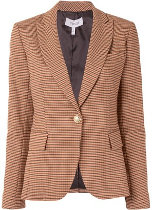 Derek Lam 10 Crosby Single-Breasted Check Blazer