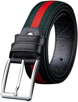 Sitong Unisex casual stripe pin buckle leather belt