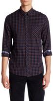 Ben Sherman Long Sleeve Herringbone Check Regular Fit Shirt