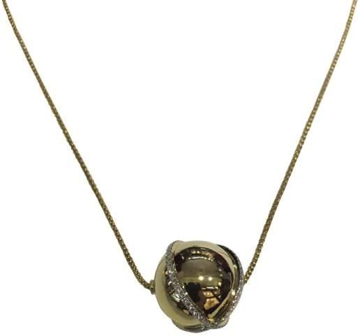 David Yurman Solari 18K Yellow Gold with 0.77ct Diamond Pendant Necklace
