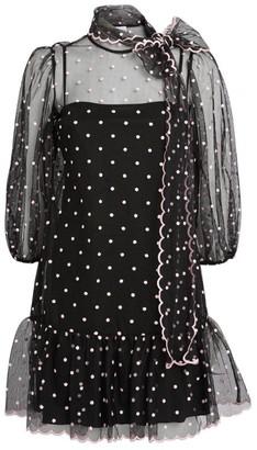 RED Valentino Polka-Dot Mini Dress