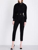 Alexandre Vauthier Eyelet-embellished crepe jumpsuit