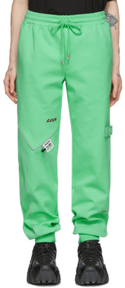 Ader Error Green Piping Incision Lounge Pants
