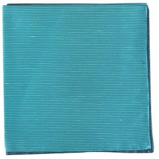 Tie Bar Fountain Solid Ocean Blue Pocket Square