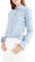J.Crew Women's Perfect Classic Stripe Stretch Cotton Shirt