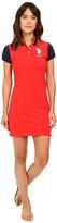 U.S. Polo Assn. Color Block Stretch Pique Polo Dress