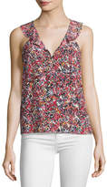 Saloni Bethany Sleeveless Silk Top, Pink Multi