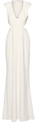 Halston Cutout Crepe Gown