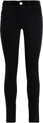 Claudie Pierlot Velvet-trimmed Mid-rise Skinny Jeans