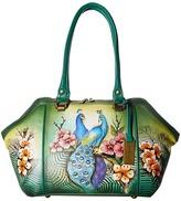 Anuschka 587 Large Wide Satchel Handbags