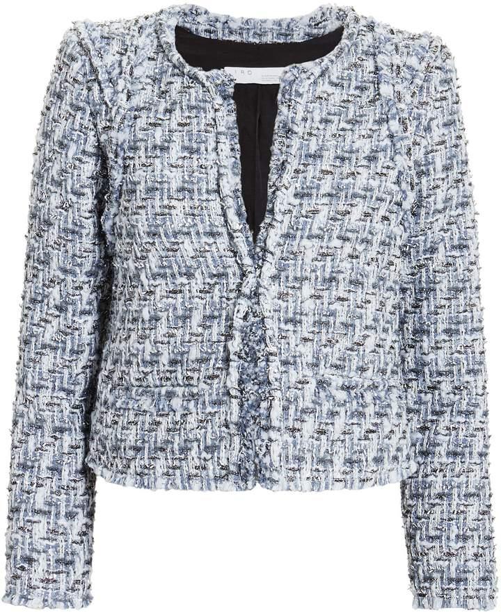 IRO Disco Blue Tweed Jacket