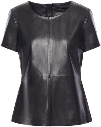 Muu Baa Muubaa Grimsay Leather Peplum Top