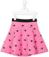 Kenzo Eyes skirt - kids - Cotton/Polyamide/Spandex/Elastane - 2 yrs
