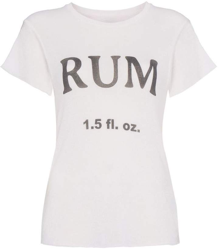 The Elder Statesman silk and cashmere rum t-shirt