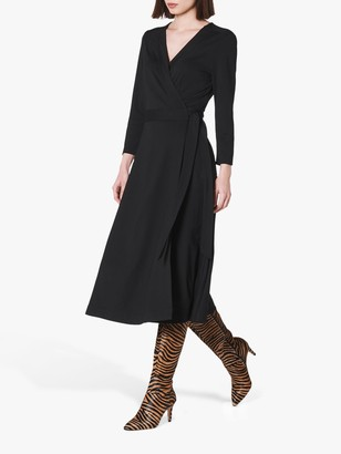 LK Bennett Juno Wrap Dress, Black